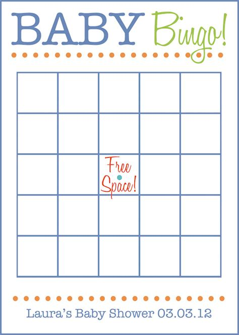 free baby shower bingo template printable baby bingo cards blank images