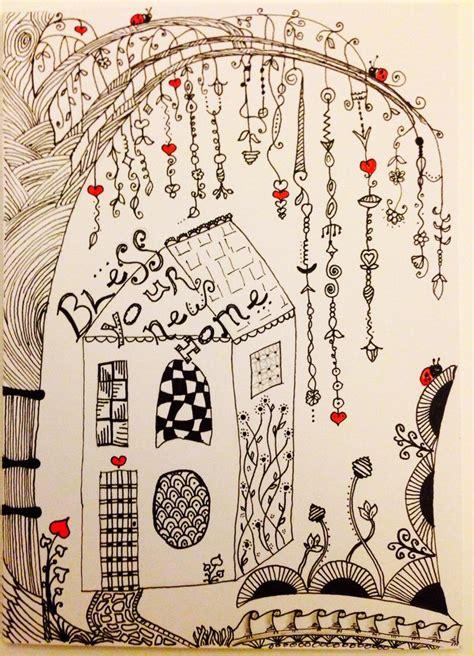 zentangle zenspiration dangles doodle  home card