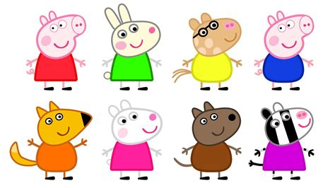 Peppa Pig And Friends Coloring Pages | peppa pig and friends coloring pages print coloring home