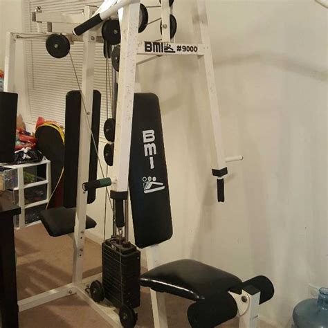 find more bmi 9000 home exercise weight set for sale