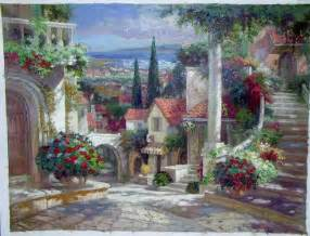 Paintings Of Flower Gardens Paintings Of Flower Gardens Garden Painting Garden Painting Painting