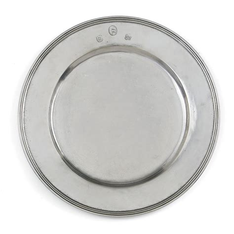 pewter charger arte italica quot pewter quot charger bloomingdale s