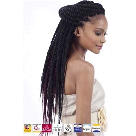 Hairstyles For Curban Braids | equal synthetic cuban twist braid double strand style