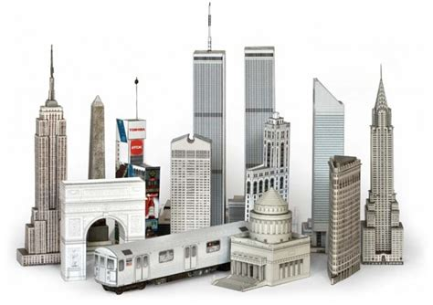 Paper Craft City - build your own paper new york wired