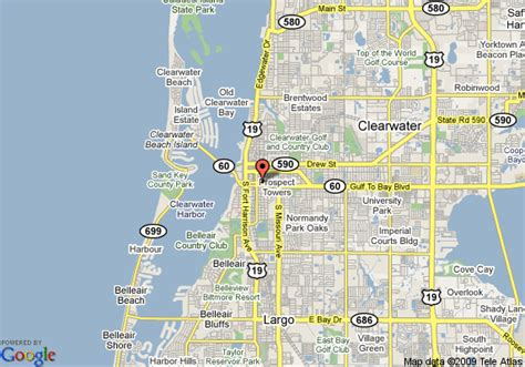clearwater florida on map map of residence inn clearwater downtown clearwater