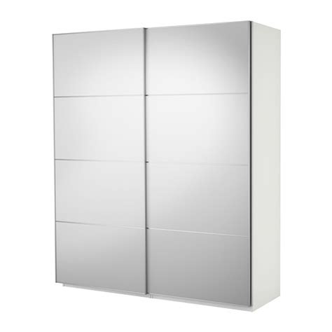 Ikea Pax Closet Doors Pax Wardrobe With Sliding Doors White Auli Mirror Glass 200x44x236 Cm Ikea