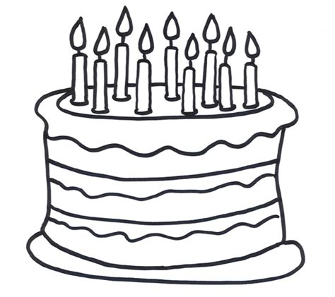 Coloring Page Birthday Cake by Coloring Sheet Of A 9th Birthday Cake For Coloring