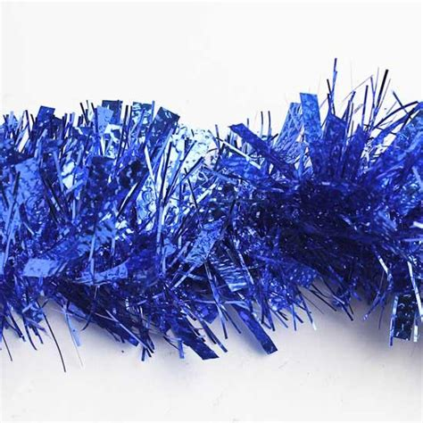 royal blue tinsel garland 6 feet ribbon sale sales