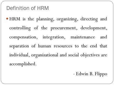 Mba Hrm Means by Human Resource Management Syllabus Mba 203 Ppt