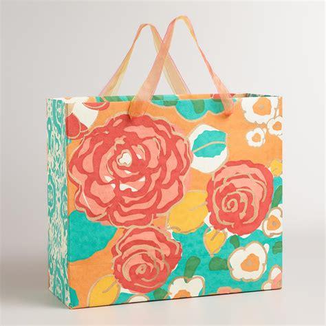 Handmade Gift Bag - large floral handmade gift bag world market