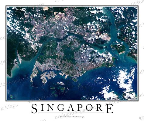 satellite map of singapore singapur satelliten karte