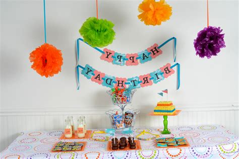 simple decoration ideas for birthday at home image
