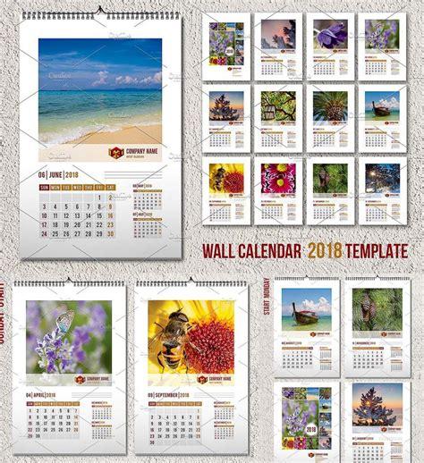 Wall Calendar Template 2018 A3 Free Download Wall Calendar 2018 Template