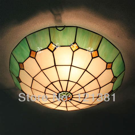 Ceiling Light Tiffany Style Flush Mount Stained Glass Stained Glass Ceiling Lights