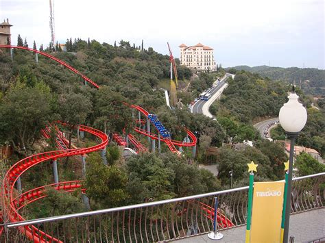 theme park near barcelona tibidabo amusement park muntanya russa