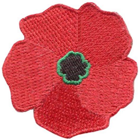 Patch Poppy Football Remember poppy iron on embroidered patch by e patches crests