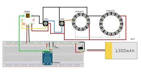 Led Platform 12led 5050 In circuit diagram neopixie dust bag adafruit learning system
