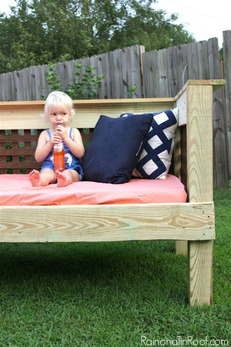 how to build a day bed howtospecialist how to build diy outdoor daybed
