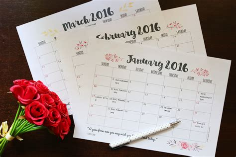 free download printable planner 2016 free download weekly and monthly planner printables for