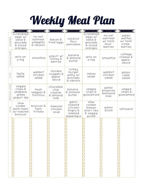 Two Week Meal Plan Template 24 hour schedule printable calendar template 2016