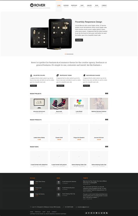 wordpress theme responsive layout showcase of responsive wordpress theme design 26 exles