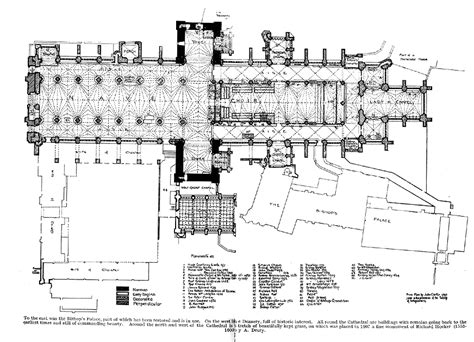 floor plan of cathedral medieval exeter cathedral
