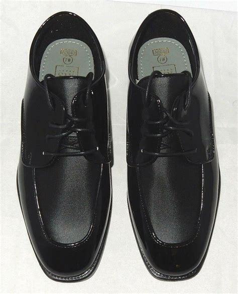After 6 Dress Shoes by New After Six Quot Modern Celebration Quot Patent Leather Tuxedo Dress Shoes Size 7w 718561829007 Ebay