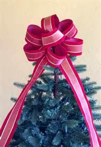 christmas tree topper bow red velvet christmas bow tree
