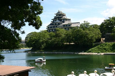 swan boats japan okayama castle okayama japan been there done that
