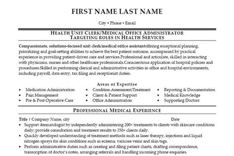 Resume Examples For Medical Office by Office Administrator Resume Samples Recentresumes Com