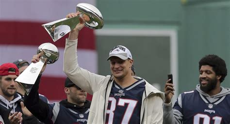 rob gronkowski dented  lombardi trophy