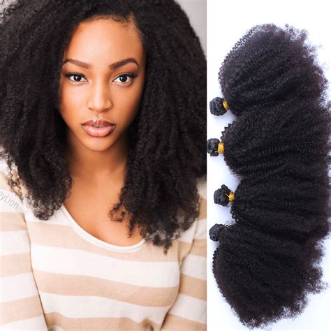 afro hairstyles weave afro kinky natural hair weave remy indian hair