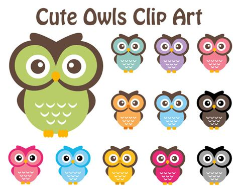 Owl Item by Popular Items For Cute Owl Clip Art On Etsy Clipart Best