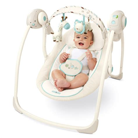 portable infant swing bright starts comfort and harmony portable swing walmart com