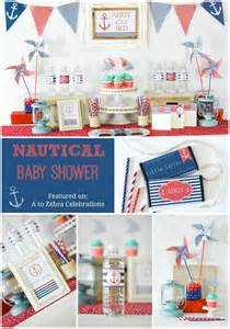 nautical baby showers coral and navy nautical baby shower a to zebra celebrations