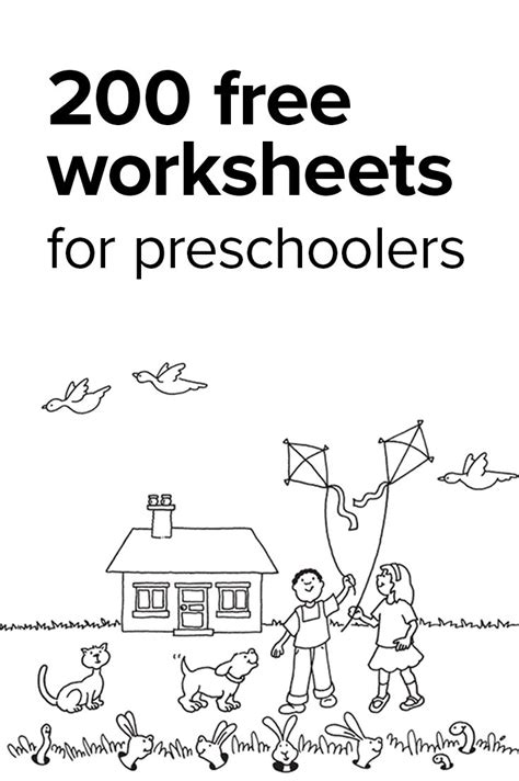 learning worksheets for preschoolers animal