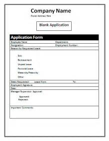 blank application form a to z free printable sample forms