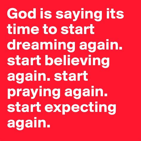 Its Time To Lulu Again by God Is Saying Its Time To Start Dreaming Again Start