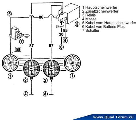 Schaltung Zusatzscheinwerfer Motorrad by Relais