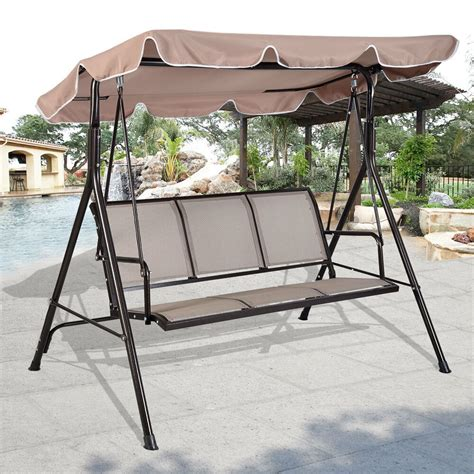 garden swing luxury 3 seater swinging garden hammock swing chair