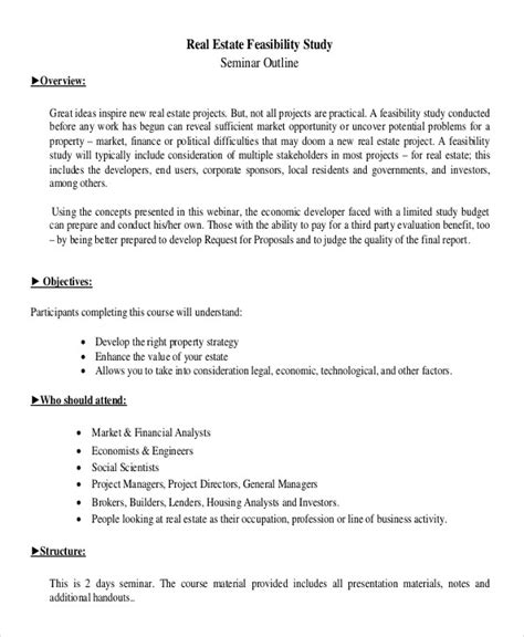 real estate feasibility study template 27 financial analyses exles sles