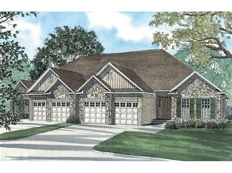 house plans and more com hellman rustic ranch duplex plan 055d 0384 house plans