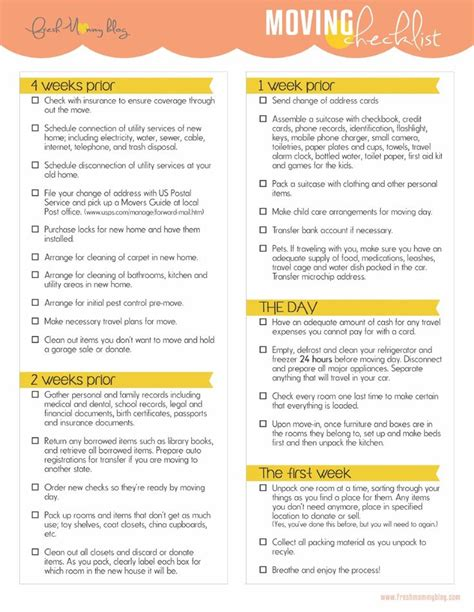 home moving checklist template to do list how to write a great