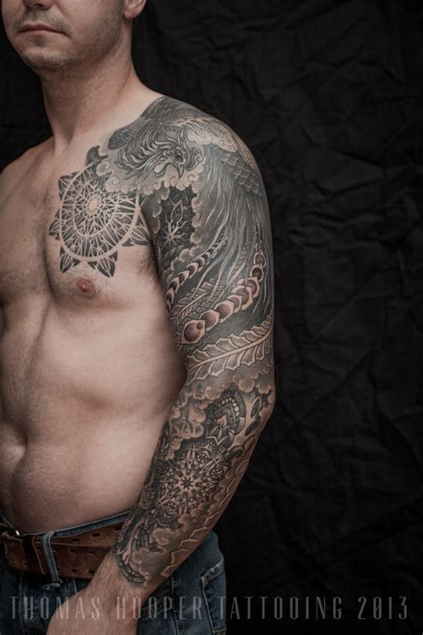 Extreme Full Sleeve Tattoos Busbones Arm Designs For 2013 2
