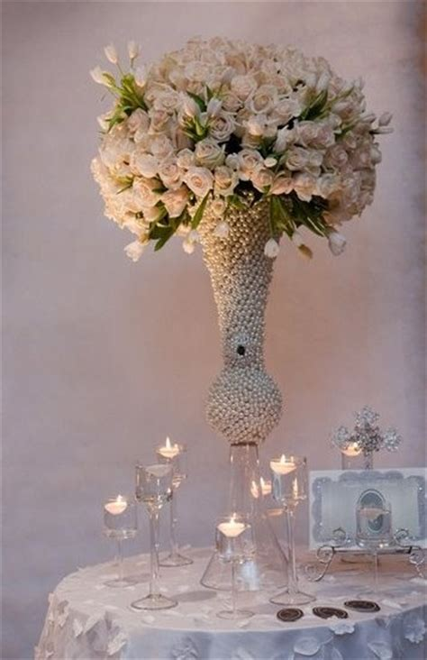 21 best images about pearls and lace theme on centerpieces blush color and pearl