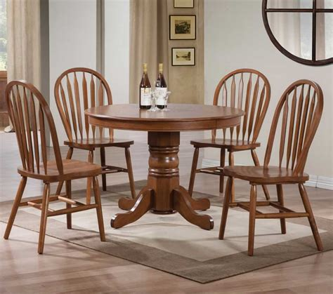 Pedestal Dining Room Table Sets by Cool Round Pedestal Dining Table Set On Havana Espresso