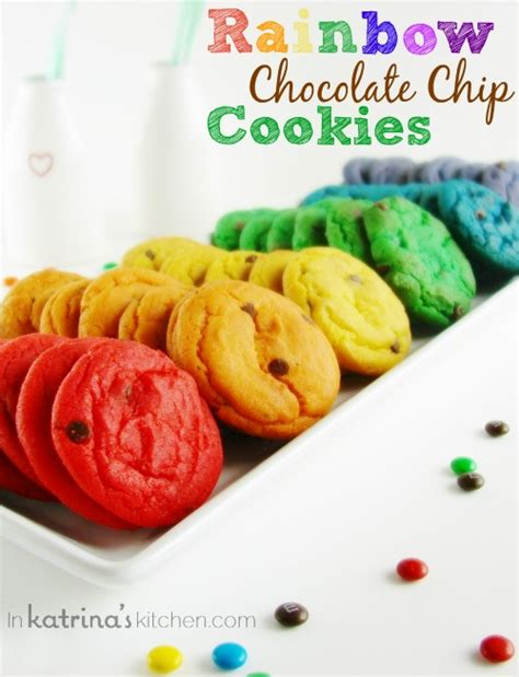 what color is the cookie rainbow chocolate chip cookies recipe in s kitchen