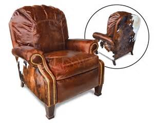 Cowhide Recliner Castle Recliner Cowhide And Leather