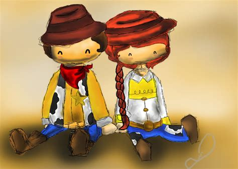 toy story 2 woody jessie itbnathan deviantart