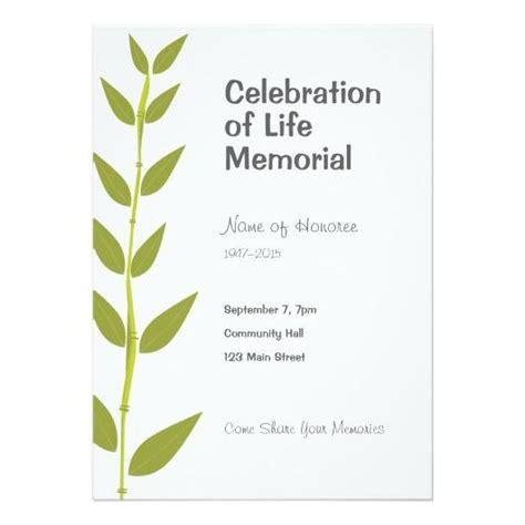 celebration of life invitation template futureclim info
